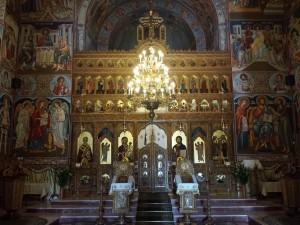 Manastirea Tisa Silvestri - Biserica mare la interior