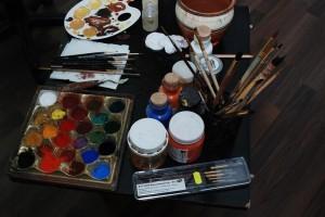 Manastirea Tisa Silvestri - Atelier pictura - Pictare icoana 1