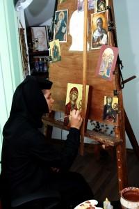 Manastirea Tisa Silvestri - Atelier pictura - Pictare icoana 3
